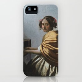 "Johannes Vermeer ""A Young Woman Seated at the Virginal"" iPhone Case"