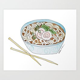 U is for Udon Soup Art Print