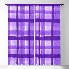 Tissue Paper Plaid - Purple Blackout Curtain