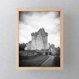 Ross Castle in Ireland in Black and White - Holga Film Photograph Framed Mini Art Print