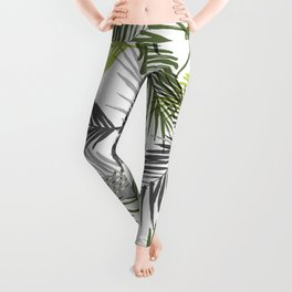 Palm tree leaf Leggings