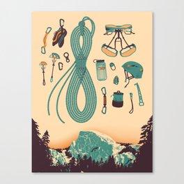 Half Dome Climbing Poster Canvas Print