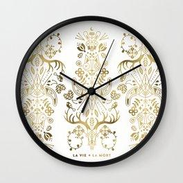 La Vie & La Mort – Gold Palette Wall Clock