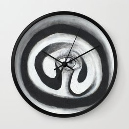 Eye Spiral Out Wall Clock