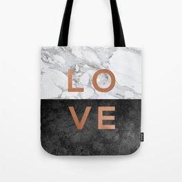 Love Quote, Copper Art Tote Bag