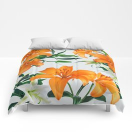 Glorious Lilies Comforters