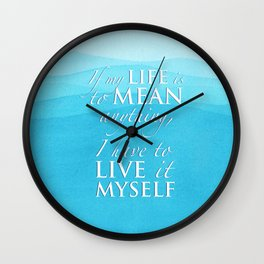 PJO - Live it myself Wall Clock