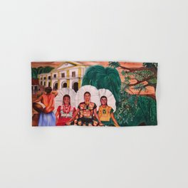 Zapotec Women and Indigenous Dress, Tehuantepec, Isthmus Region, Oaxaca, Mexico portrait painting Hand & Bath Towel