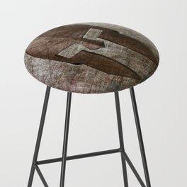 Molon Labe - Spartan Helmet on Riveted steel Bar Stool