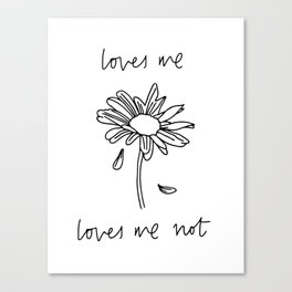 Loves Me Loves Me Not Canvas Print