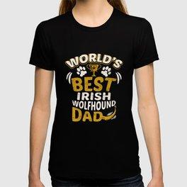 World's Best Irish Wolfhound Dad T-shirt