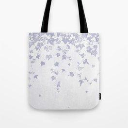 Soft Purple Trailing Ivy Leaf Print Tote Bag