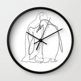 Line Art - Noot Noot Wall Clock