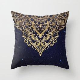 MANDALA IN STARRY NIGHT Throw Pillow