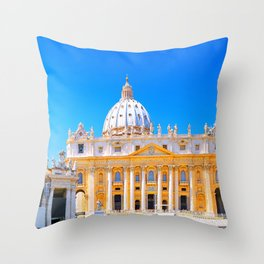 St Peters Basilica in Rome Throw Pillow