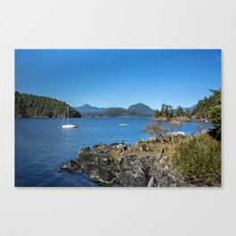Bays and islands of the northern sea Canvas Print