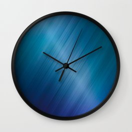 Jelly Bean & Blue Shades Metallic Pattern Wall Clock