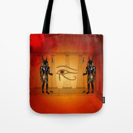 The all seeing eye with anubis Tote Bag