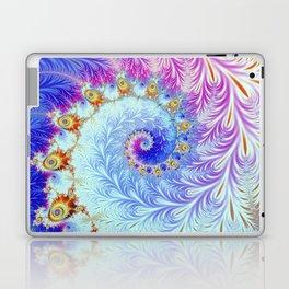Pink Ice Spiral Fractal Laptop & iPad Skin