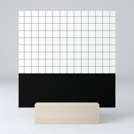 Scandi Grid Sq B Mini Art Print