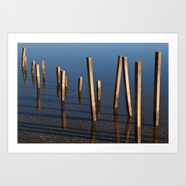 Walking Water Stilts Art Print