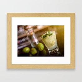 Cocktail drink Framed Art Print
