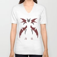 digimon V-neck T-shirts featuring Cyberdramon by JHTY