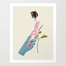 Morticia Addams Art Print