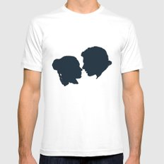 I Love You, I Know White Mens Fitted Tee MEDIUM