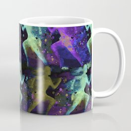 Watercolor women runner pattern on dark background Coffee Mug