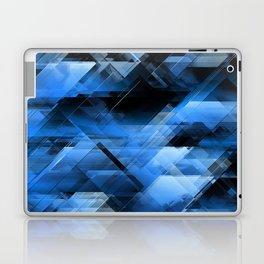 Abstract geometric blue Laptop & iPad Skin
