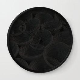Black spiraled coils Wall Clock