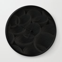 Black spiraled coils Wall Clock