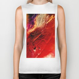 Autumn Abstract Biker Tank