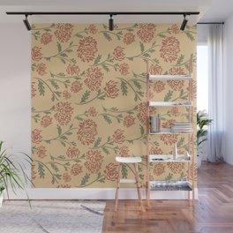 horizontal flowers Wall Mural