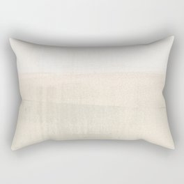 Beige and Taupe Horizon Minimalist Abstract Landscape Rectangular Pillow