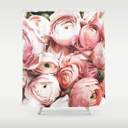 Blush Blooming Shower Curtain