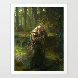 Mythic Britain - Merlin Art Print