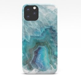 Blue Aqua Agate iPhone Case