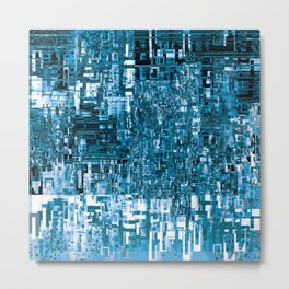 Circuitry Abstract Metal Print