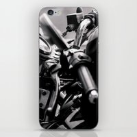moto iPhone & iPod Skins featuring moto by Farkas B. Szabina