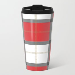 Checkered Metal Travel Mug
