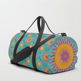 Magic Sun Mandala In Bold Colors Duffle Bag
