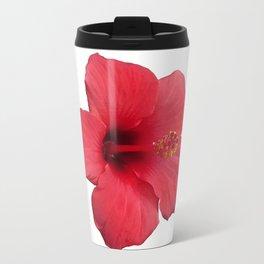 Stunning Red Hibiscus Flower Travel Mug