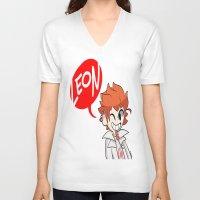 baseball V-neck T-shirts featuring Baseball by dartty