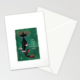 live so deep Stationery Cards