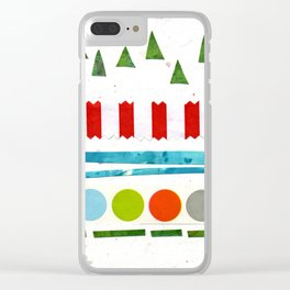 Trees, Snow & Baubles Clear iPhone Case