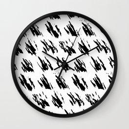 Polka Splotch Black Ink on Paper Wall Clock