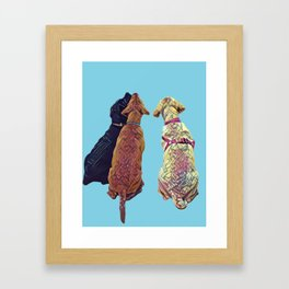Three Amigos I in aqua Framed Art Print