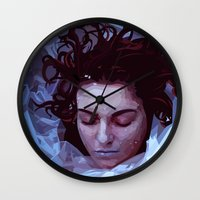 laura palmer Wall Clocks featuring Laura Palmer from Twin Peaks by Alice Teal